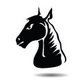 Horse head illustration with for your design Stock Photography