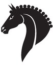 Horse head a silhouette of a beautiful Royalty Free Stock Photography