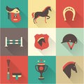 Horse icons vectir set this is file of eps format Stock Images