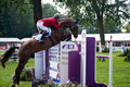 Horse jumping tournament Royalty Free Stock Images
