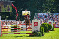 Horse jumping tournament Royalty Free Stock Photo