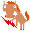 Horse and lightning illustration of a holding a Royalty Free Stock Image