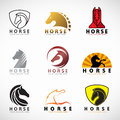 Horse logo sign vector illustration set design Royalty Free Stock Photo