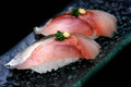 Horse mackerel sushi Royalty Free Stock Photo