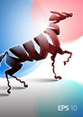 Horse made of filmstrip Royalty Free Stock Photo