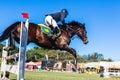 Horse Man Flight Gate Royalty Free Stock Photo
