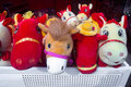 Horse mascots is the year of in china this picture shows of spring festival for sale in a market Stock Photos