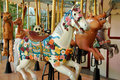 Horse on a Merry go Round Royalty Free Stock Photo