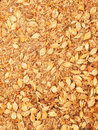 Horse muesli background close up studio Royalty Free Stock Photo