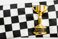 Horse races trophy. Melbourne cup win Royalty Free Stock Photo