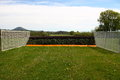 Horse racing fence c photograph of a point to point race course hurdle Stock Images
