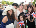 Horse racing people at ascot races Royalty Free Stock Photography
