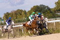 Horse racing in pyatigorsk race for the prize of the zakritia northern caucasus russia Stock Photos