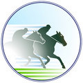 Horse-racing sign Stock Images