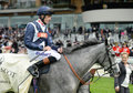 Horse racing sky lantern wins at ascot Stock Image