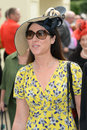 Horse racing womens fashion at royal ascot races Stock Photos