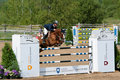 Horse Rider at the Bromont jumping competition Stock Image