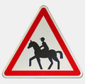 Horse rider sign Royalty Free Stock Image