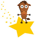 Horse s star illustration of a riding a Royalty Free Stock Photo