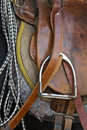 Horse saddle Stock Image