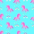 Horse seamless pattern children`s crown