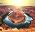 Horse shoe bend in usa Royalty Free Stock Photo