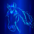 Horse sketch vector greeting card symbol of new year Royalty Free Stock Photos