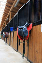 Horse stable Stock Photo