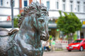 Horse statue in berlin aeruginous of a koepenick Royalty Free Stock Photo