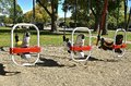 Horse swings in a park Royalty Free Stock Photo