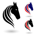 Horse symbol illustration on white background for design Stock Photo