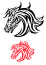 Horse tribal art tattoo design Royalty Free Stock Photography