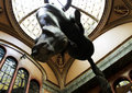 Horse upside down with a st wenceslas hanged this statue was made by david äœernã Stock Photo