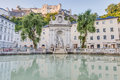 Horse Well Fountain in Salzburg, Austria Royalty Free Stock Photo