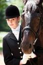 Horseback riding girl Royalty Free Stock Photography
