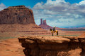 Horseback Riding John Ford's Point - Monument Valley Royalty Free Stock Photo