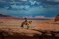 Horseback Riding John Ford's Point - Monument Valley Royalty Free Stock Photo
