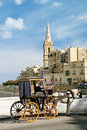 Horsedrawn cart in valetta malta Stock Image