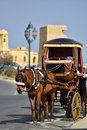 Horsedrawn cart in valletta malta carriage valetta republic of Royalty Free Stock Photo