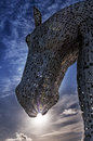 Horsepower the kelpies giant horse sculpture sculptures at helix in falkirk scotland Stock Image