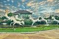 HORSES RUN AWAY
