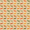 Horses seamless pattern. Royalty Free Stock Image