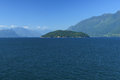 Horseshoe bay bc view of near vancouver from the water Royalty Free Stock Photo