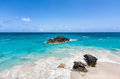 Horseshoe bay bermuda in on a sunny day Royalty Free Stock Photography