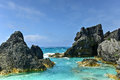 Horseshoe Bay Cove - Bermuda Royalty Free Stock Photo