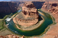 Horseshoe bend, colorado river Royalty Free Stock Images