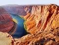 Horseshoe Bend, Colorado River, Arizona Royalty Free Stock Photo