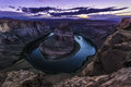 Horseshoe Bend meander of the Colorado River Page Arizona After Royalty Free Stock Photo