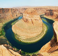 Horseshoe bend shaped meander of the colorado river located near the town of page arizona in the united states Royalty Free Stock Photography