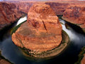 Horseshoe bend the stunning colorado river winds its way through near page arizona Royalty Free Stock Images